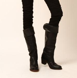 Frye Jane Tall Cuff Black 8.5